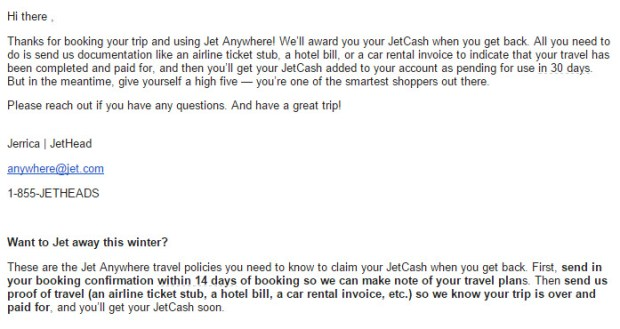 jet anywhere email instructions