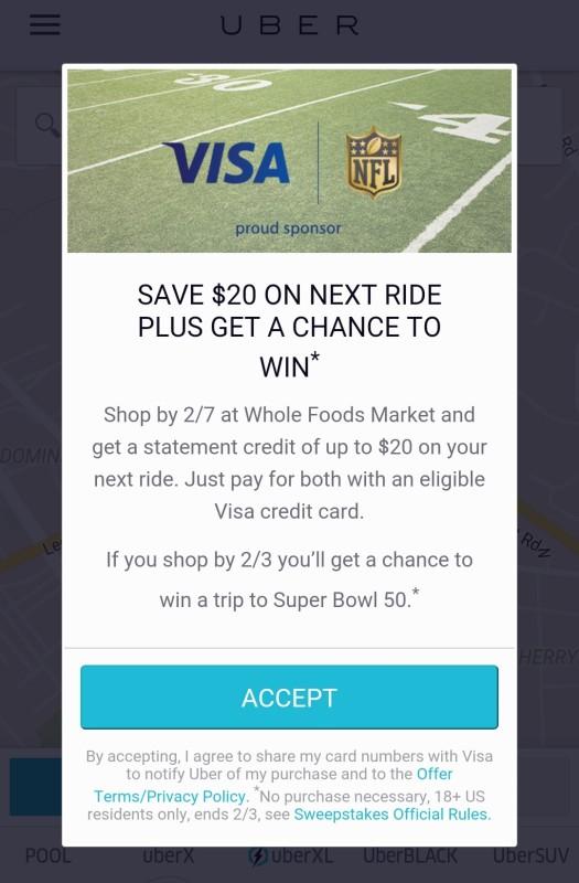 uber credit offer