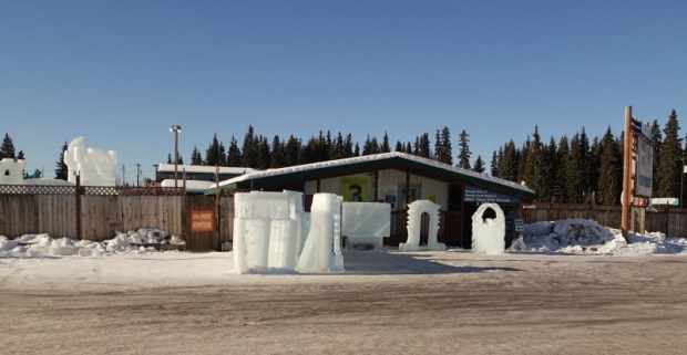 Fairbanks Ice Park Ice Scuplture Championships Entrance