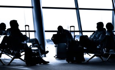 passengers in airport termina