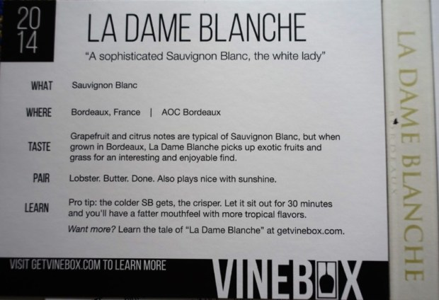 April Vinebox Review La Dame Blanche