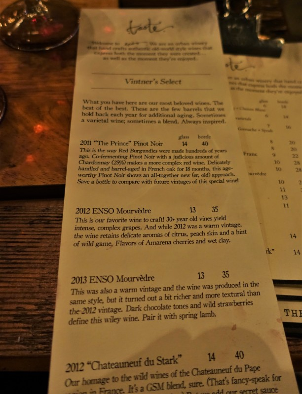 Enso Winery Review Portland Wineries vintage descriptions