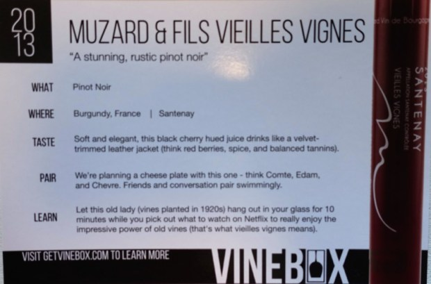 May Vinebox Review muzard & fils