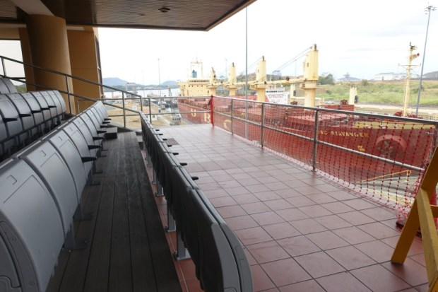 Miraflores Locks Panama Canal first floor viewing