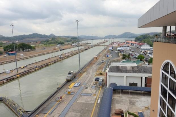 Miraflores Locks Panama Canal lake view
