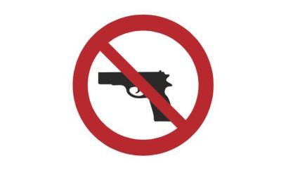 guns prohibited