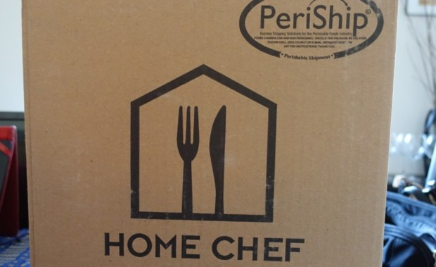 home chef review delivery box