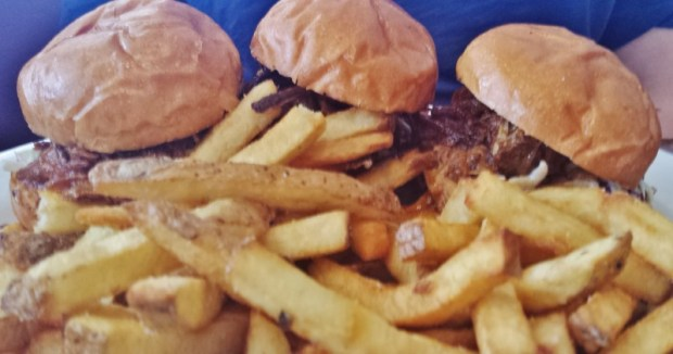 the hangout bar & grill seal beach restaurants brisket sliders