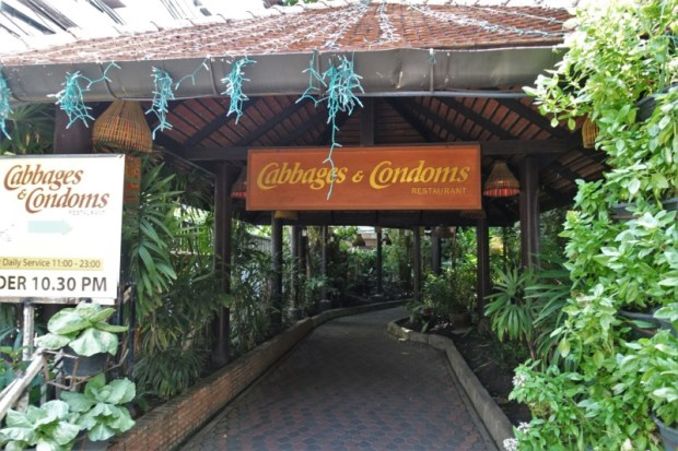 Cabbage and Condoms Bangkok Restaurant Review Entrance
