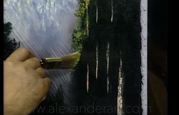 art of alexander sunlight canvas trees barks leaf