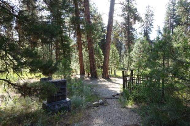Idaho City Pioneer Cemetery Boot Hill path
