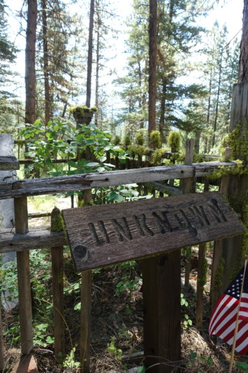 Idaho City Pioneer Cemetery Boot Hill unknown grave