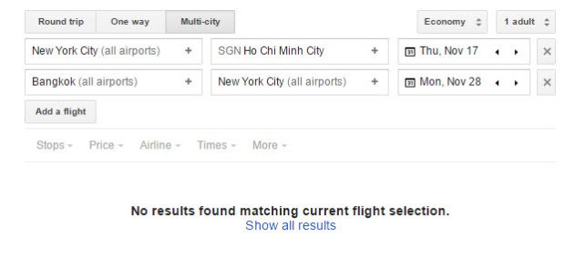 cheap flights to Asia disappearing google flights