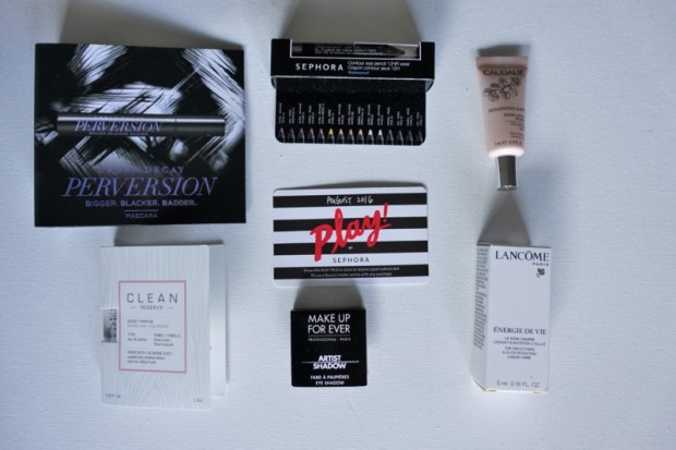 Sephora Play Box August 2016 Contents