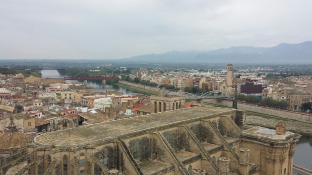 View of downtown Tortosa from the Parador battlements