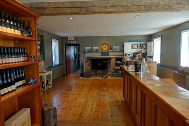Ravine Vineyard tasting room interior