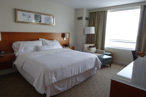 Westin Dulles IAD hotel Review king bed with view
