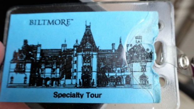 Biltmore House Rooftop tour badge