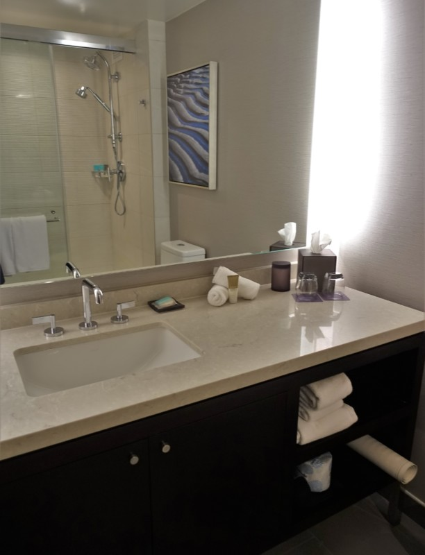 hyatt regency san francisco airport renovated king club room bathroom