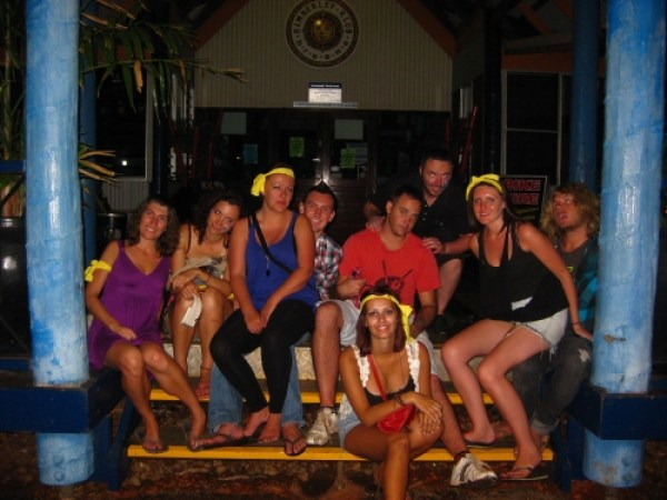 The gang at Kimberley Klub in Broome, Australia