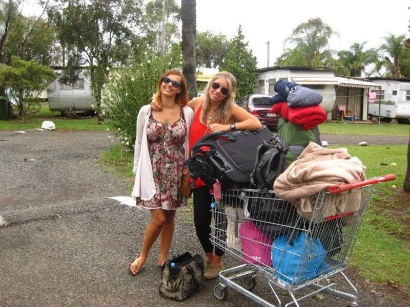 Backpackers with too much stuff