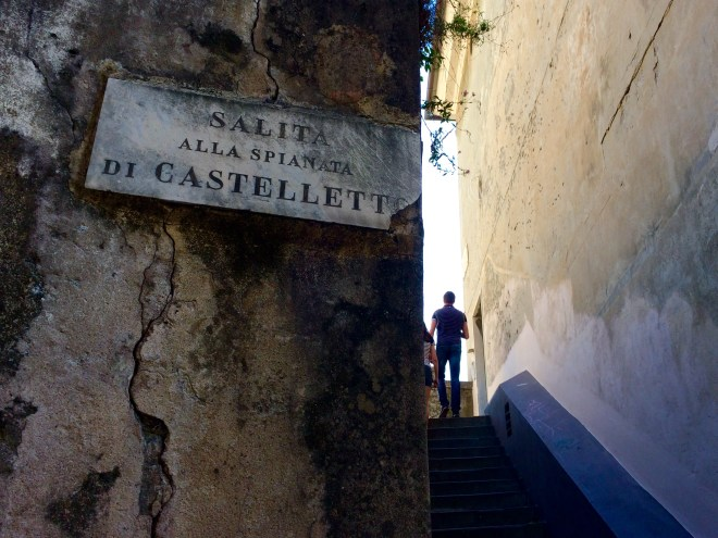 Steps to Spianata Castelletto
