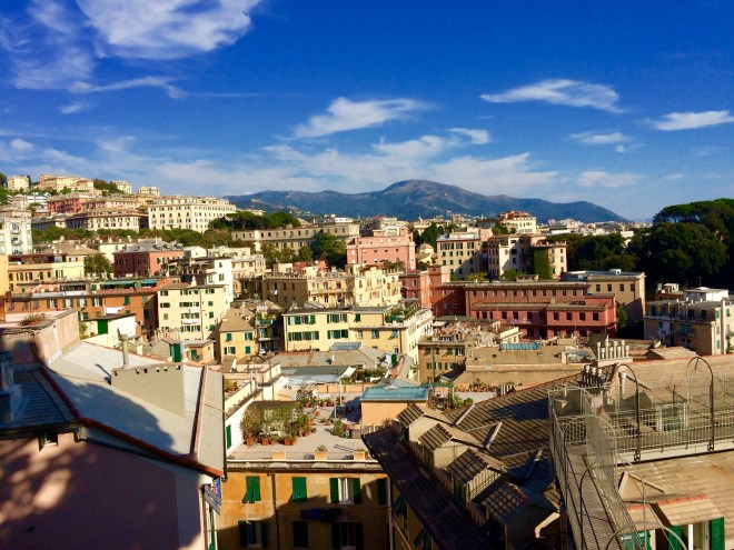 View of Genoa from Spaniata Castelletto