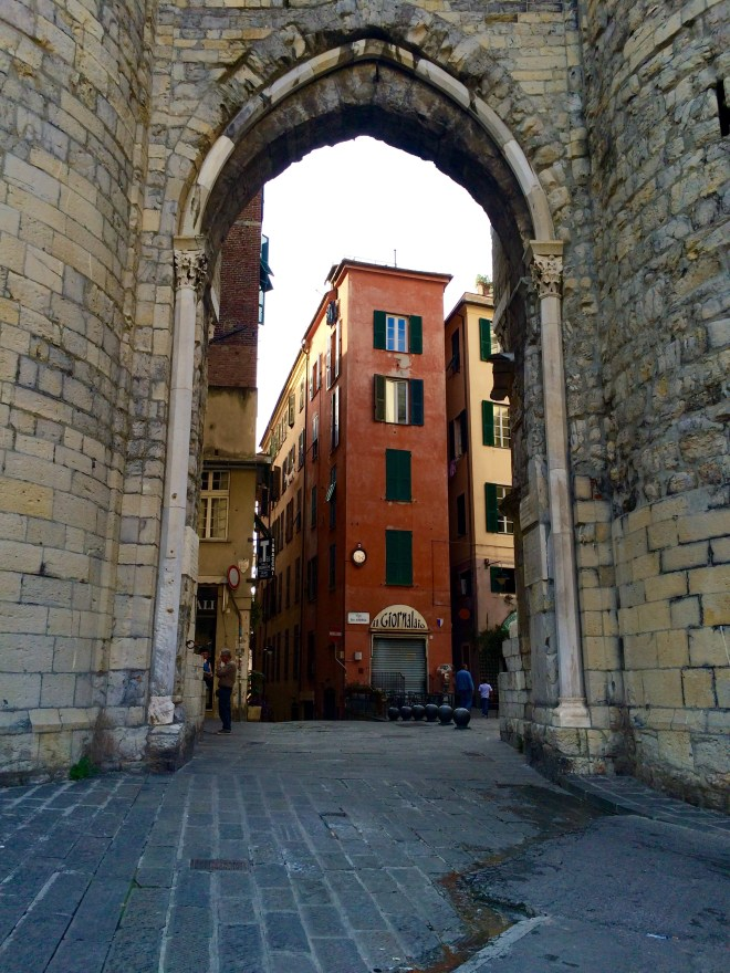 Porta Soprana (the old gates to the city)