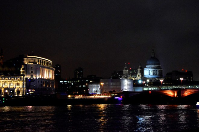 St Paul's at night, London