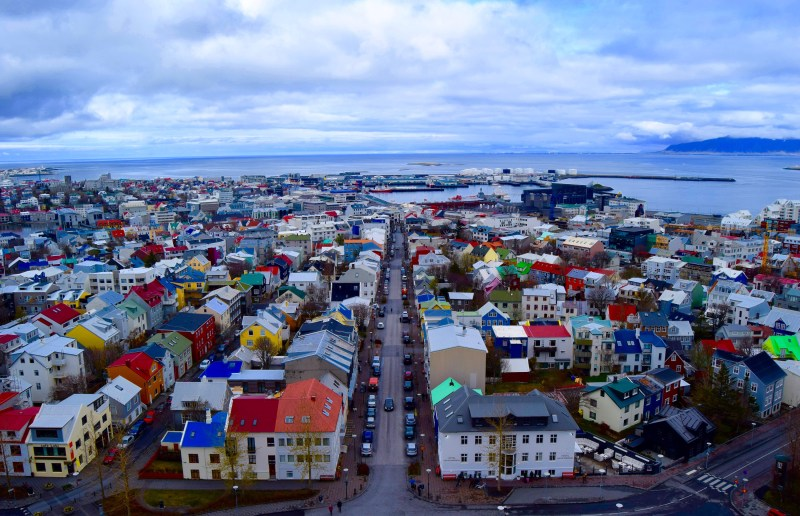 View from above - Reykjavik