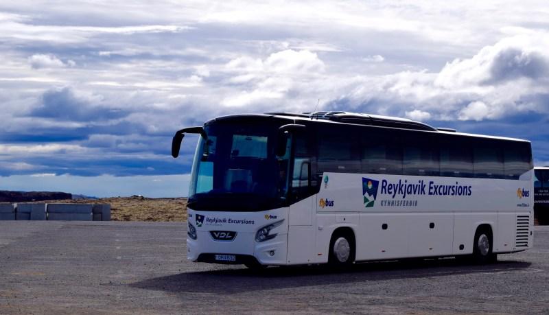 The Reykjavik Excursions tour bus