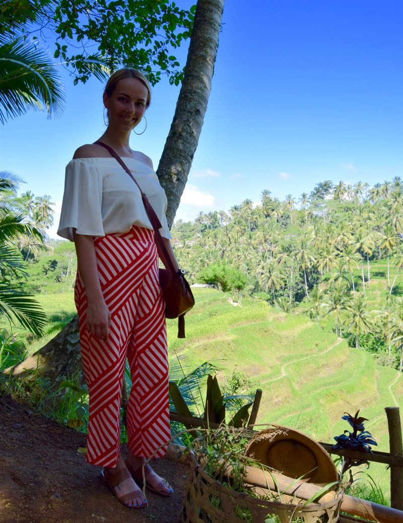 River Island outfit at the Rice Terraces, Ubud