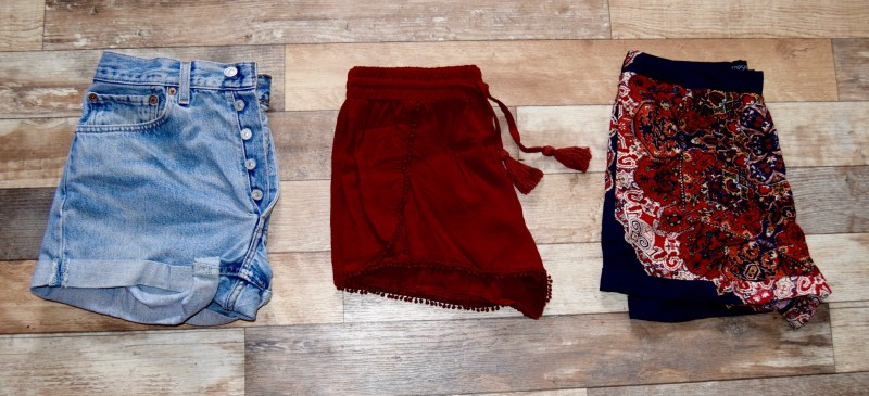 Bali Packing List - Shorts