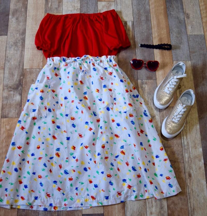 Vintage skirt, Prague