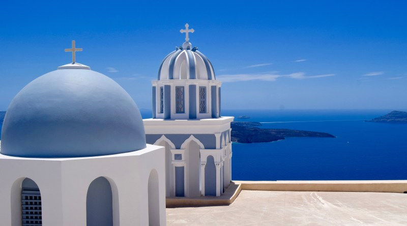Beautiful Santorini Domes