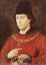 Karel de Stoute met wapen