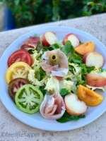 Zomerse salade met Frans fruit