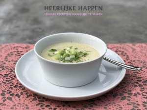 Koolrabi en knollen-soep
