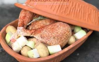 Hele kip uit de Römertopf
