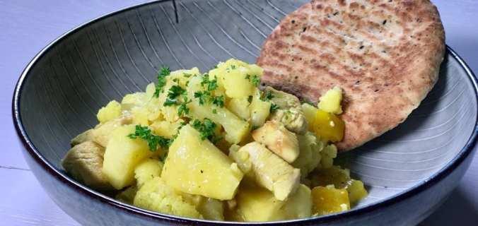 Bloemkool ananas curry met kip