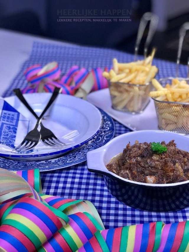 Carnaval Zoervleisj met friet