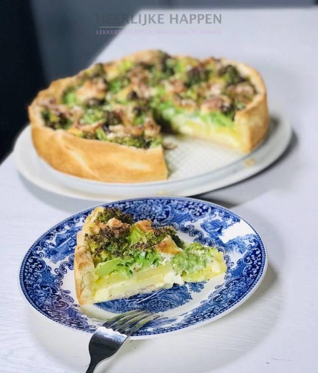 Camembert quiche met broccoli