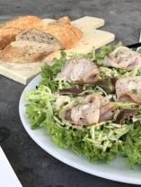 vitello salade met courgetti