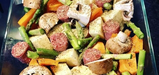 Zoete aardappel ovenschotel