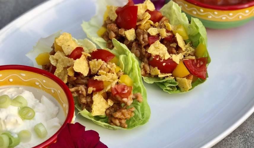 Taco salade schuitjes