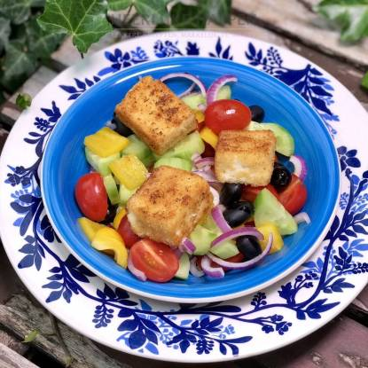 Griekse saganaki salade