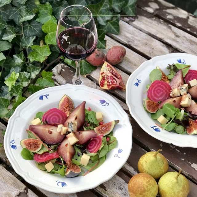 Stoofpeertjes salade met morbier
