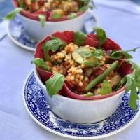 Parelcouscous met gegrilde groente