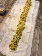 filo taartrol met pompoen