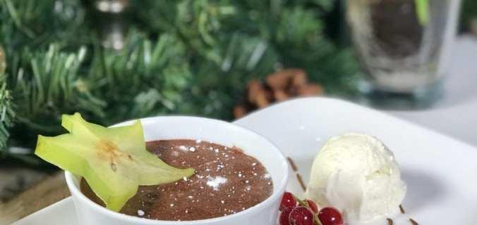 Chocomousse met ijs Kerst toetje